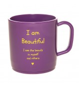 I am beautiful happy mug