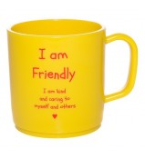 I am friendly happy mug